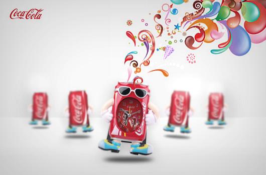 Coca Cola Style Alarm Clock