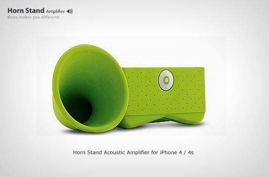 Horn Stand Acoustic Amplifier for iPhone 4/4s