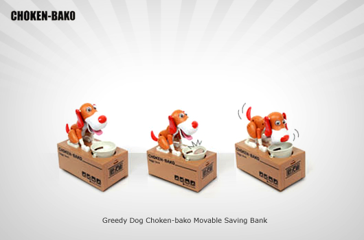 Greedy Dog Choken-bako Movable Saving Bank