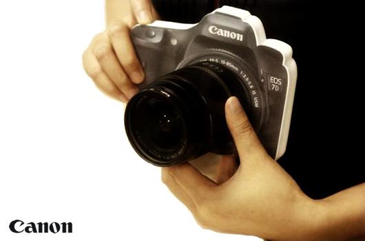 Canon Camera Shaped Memo Pad