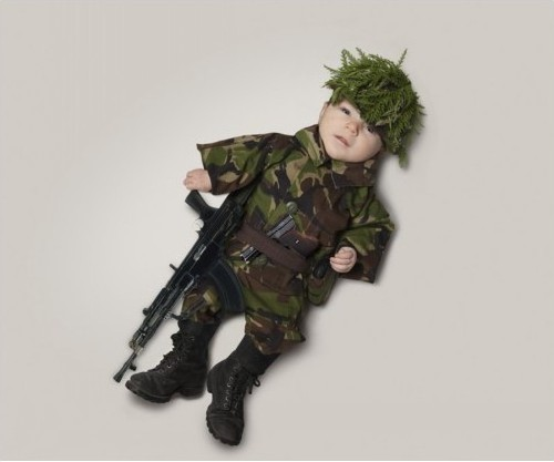 baby military man
