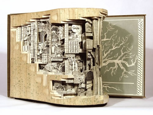 Brian Dettmer's Carved Book Sculptures