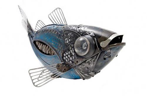 Edouard-Martinet-Recycled-Bikes-Metal-Animal-Sculptures