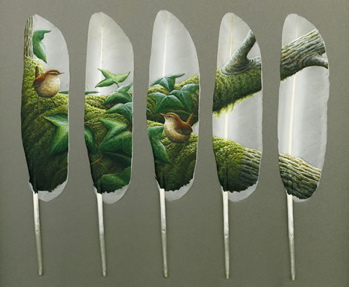 feather art by ian_davie 3
