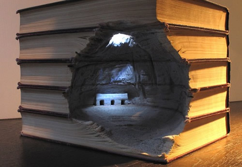 Guy Laramee's Gorgeous Landscapes Carved Into Books