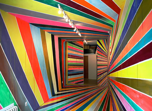 Mind-bending Stripe Installations by Markus Linnenbrick 1