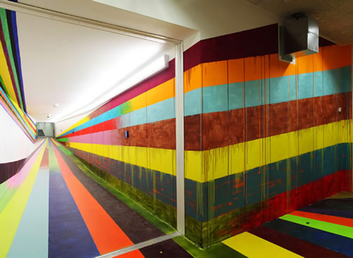 Mind-bending Stripe Installations by Markus Linnenbrick 2