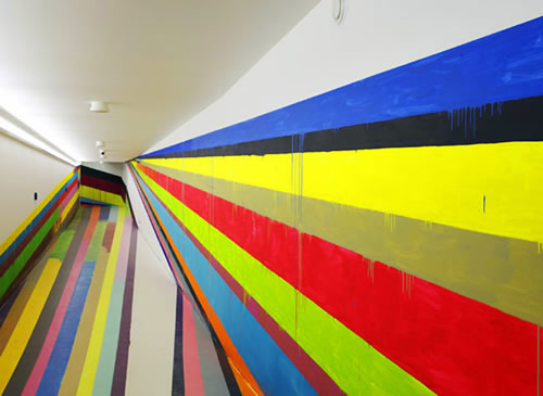 Mind-bending Stripe Installations by Markus Linnenbrick 4