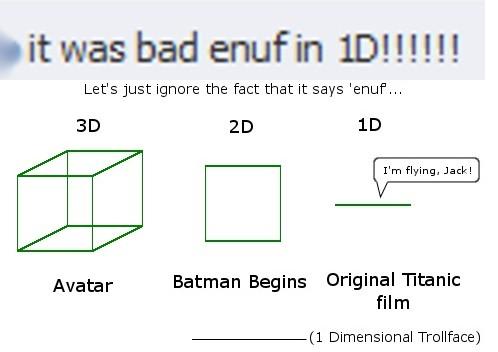 Titanic in 1-Dimension